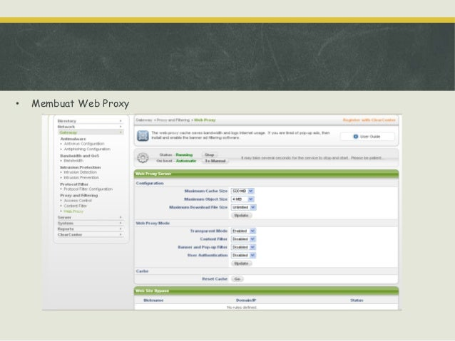 Konfigurasi fungsi jaringan Pengujian Internet jika proxy server bekerja