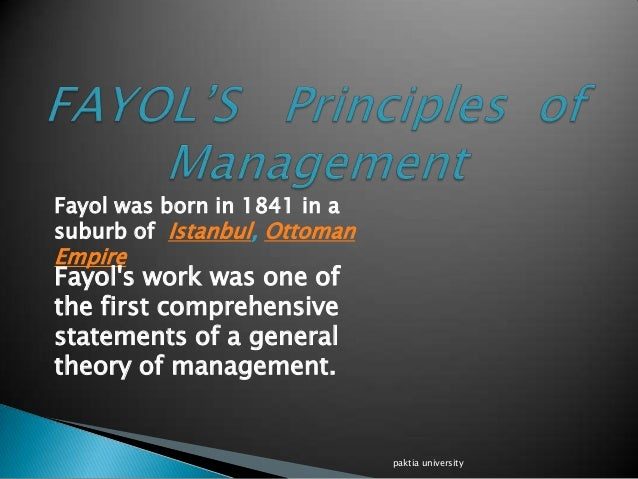 criticisms to fayol s principles The theoretical evolution of public administration is essentially 'ecological' elucidate (250 words) the criticisms stating fayol's principles as 'cold-blooded engineering' with no regard for human element seem selective and exaggerated critically comment (250 words) framed by: aditya jha.