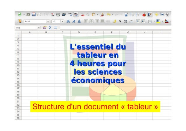 Structure d'un document « tableur »