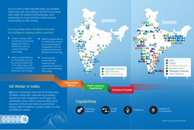 GEisatworktohelpIndiaefficientlyuseavailable waterresources.Ourproductsandservicesprovide cleanwaterforcitizensandbusiness...