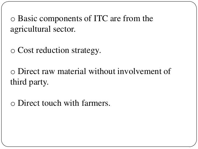 itc strategy Full-text paper (pdf): concept and practice of strategic corporate social  responsibility: special reference to csr in itc limited.