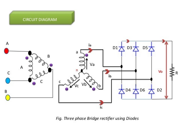 phase diode rectifiers/power electronics, wiring diagram