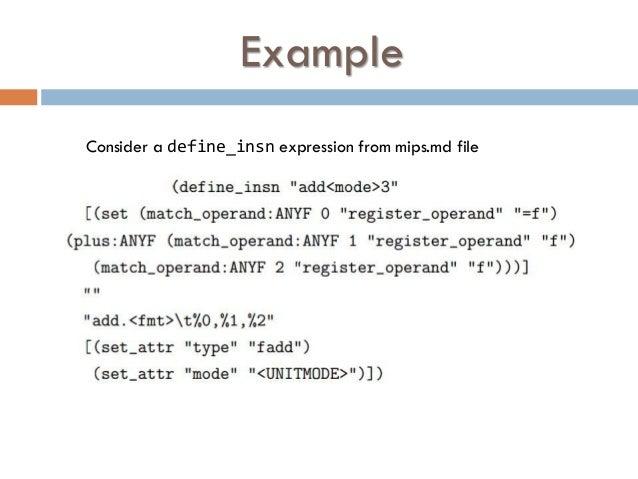 GCC RTL and Machine Description