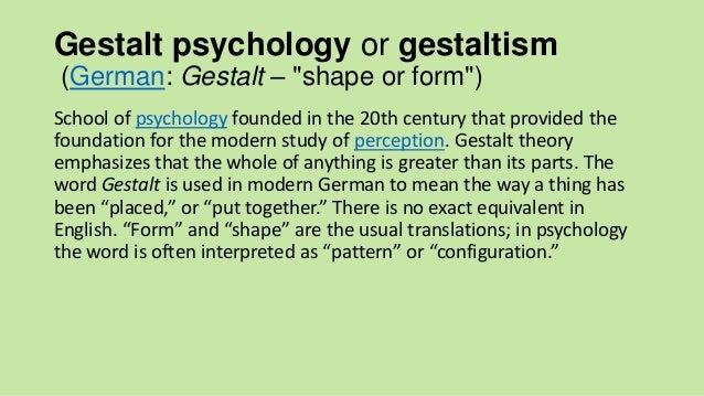Gestalt Psychology By R.Khalili