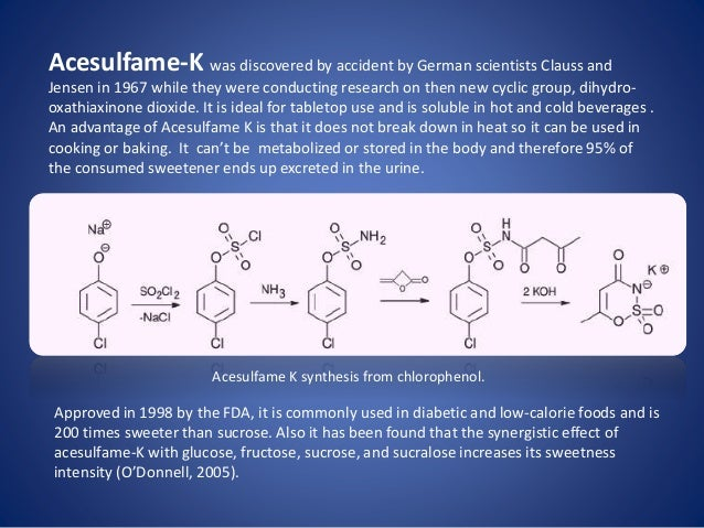 TOXICITY STUDIES OF ACESULFAME POTASSIUM