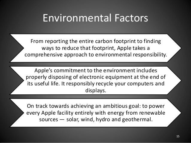 apple external environment analysis Guidance on apple swot analysis internal factors the following  ipod internal and external factors there are also various types of apple ipods on the marked like the ipod .
