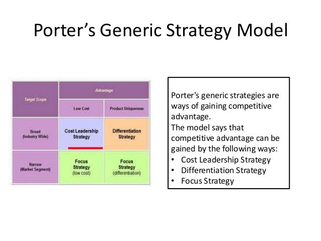 generic strategies using porters model in telecom Using porter's five forces model to analyze the highly dynamic telecommunications industry enables us to outline the competitive structure of this industry in oman.