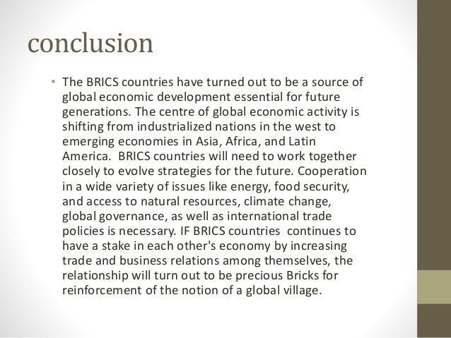 bric analysis Inputs and outputs of innovation: analysis of the brics: theme 6 - innovation technology and competitiveness.