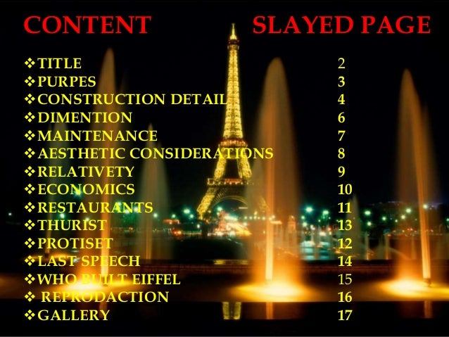 CONTENT SLAYED PAGE TITLE 2 PURPES 3 CONSTRUCTION DETAIL 4 DIMENTION 6 MAINTENANCE 7 AESTHETIC CONSIDERATIONS 8 REL...