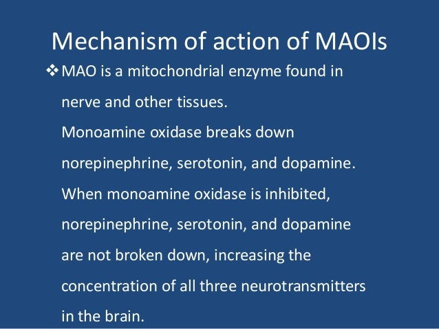Maoi sexual side effects