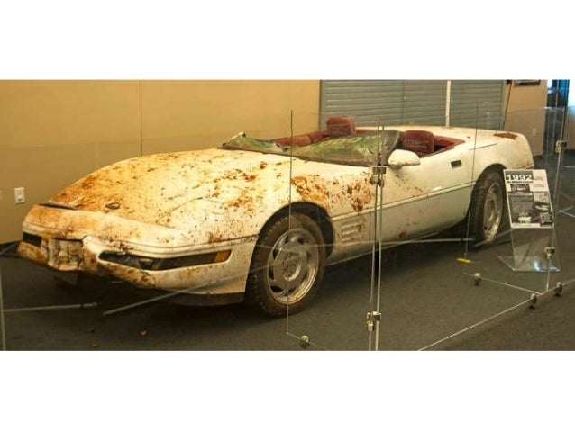 Corvette museum visitors can view the full sinkhole