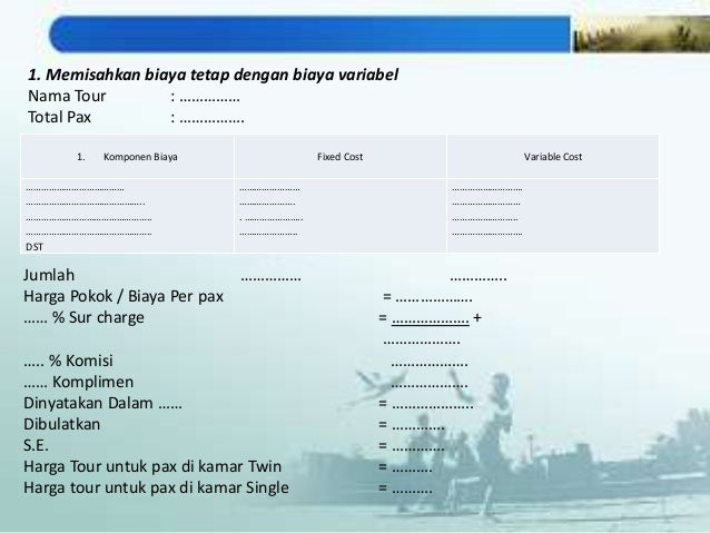 contoh cara menghitung harga paket wisata
