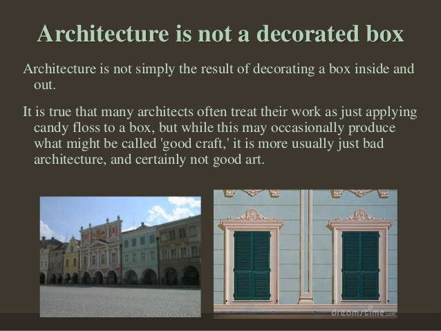Architecture is not bricks and ... & Architecture Career Planning