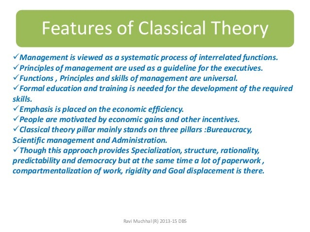classical management theory advantages and disadvantages pdf