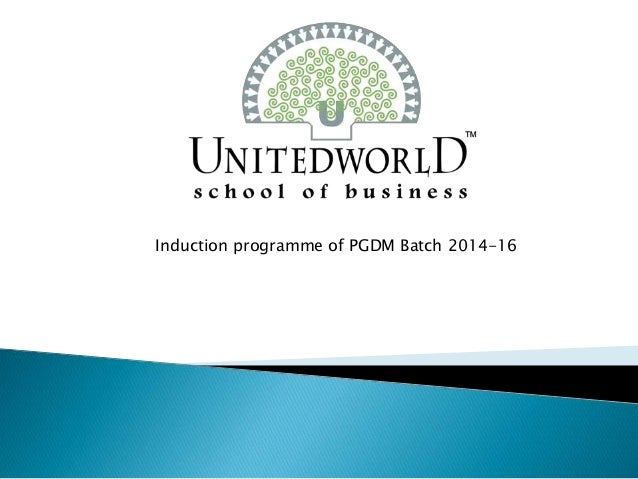 Induction programme of PGDM Batch 2014-16