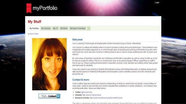 and Other E-portfolio Examples