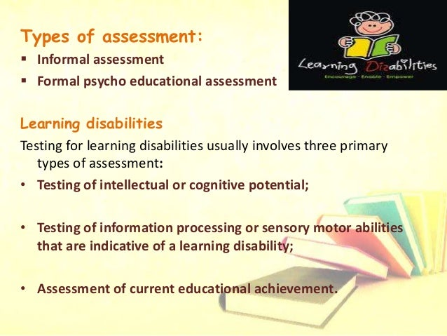 Inside Evaluation For Learning Disorders >> Detailed Presentation On Learning Disabilities
