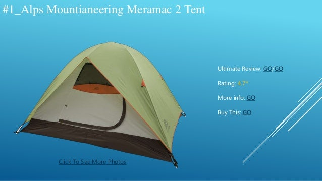 & The Best Alps Mountianeering Tents