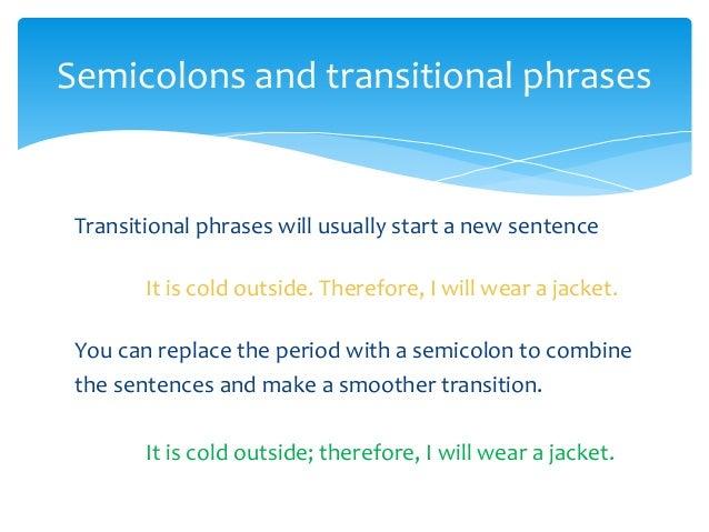 presentation of semicolon