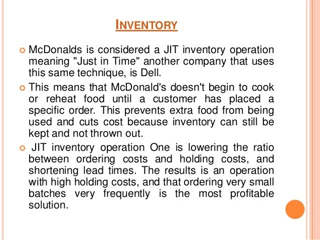 mcdonalds factors of production Abstract focuses on the marketing mix of mcdonald's highlights  audits, announced and unannounced, to all production facilities, distribution centres and .