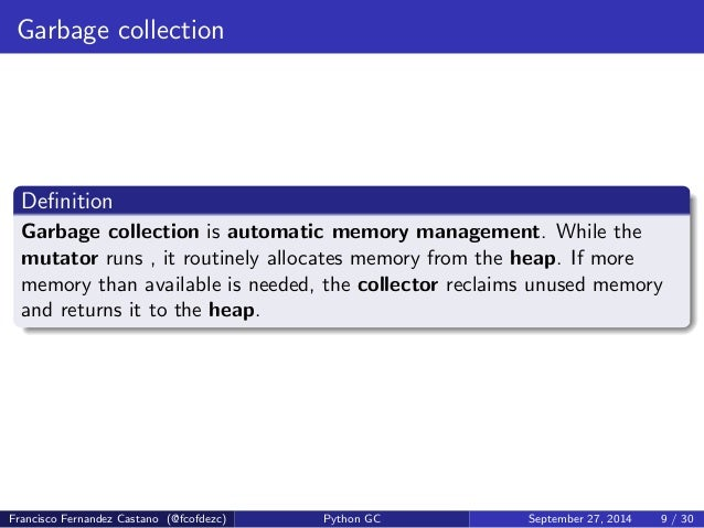 Knowing your Python Garbage Collector