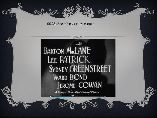 00.23: Secondary actors names