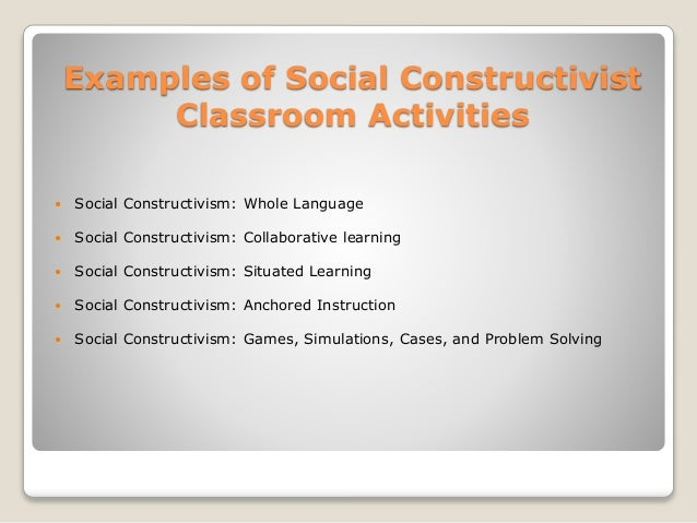 Collaborative Classroom Presentation ~ Social constructivism by lev vygotsky