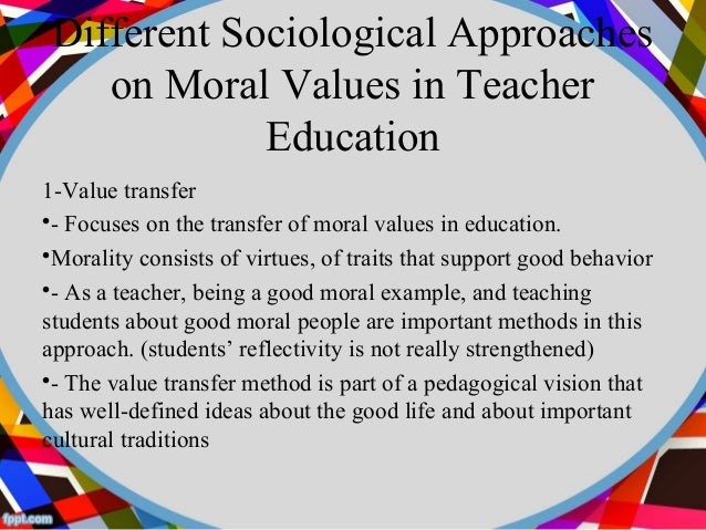 write an essay on moral values