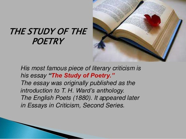 Arnold believes:  Poetry can fulfill its high function,  only if we keep a high standard for  it.  For a poem to be of rea...
