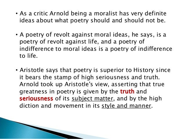 Although Arnold's views for Chaucer are:  • Chaucer's power of fascination is enduring.  • His poetry is a real source of ...