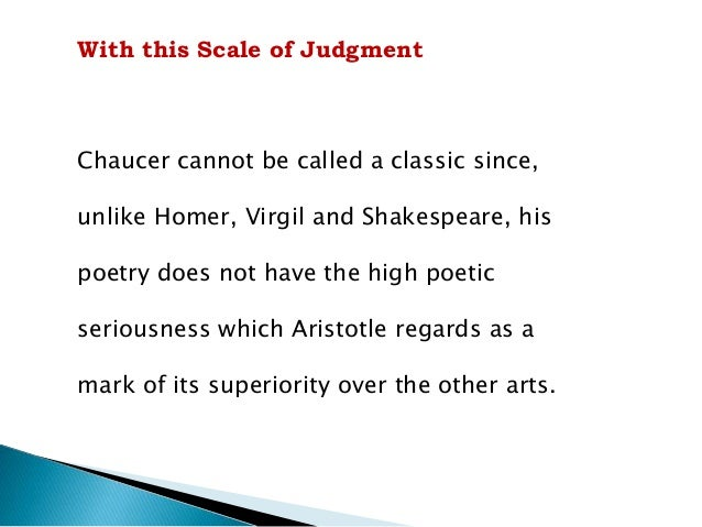 """Arnold's Classic Poets  Arnold's classic poets include:  Milton, Shakespeare,  Dante and Homer  """"The superior character of..."""