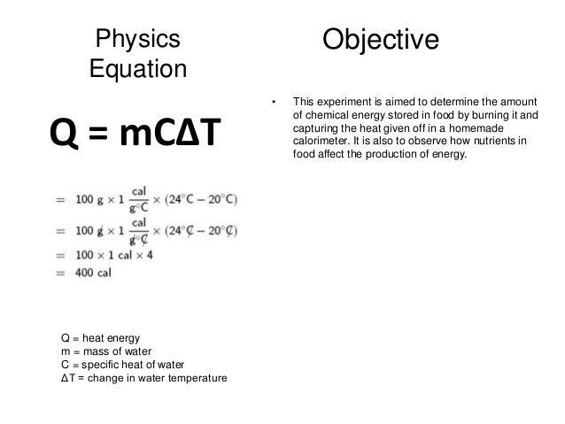 Calorimetry Formula April Mydearest Co