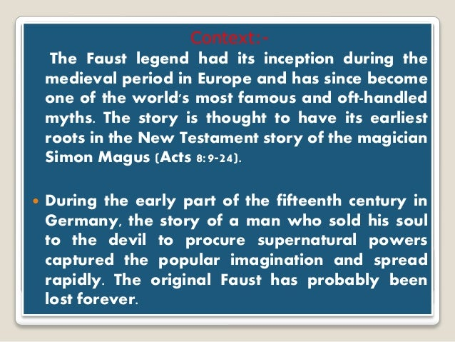 plot of dr faustus Dr faustus is a great story of hubris, temptation, and regret it has also been told in so many forms over the centuries that it has had a lasting artistic impact on.