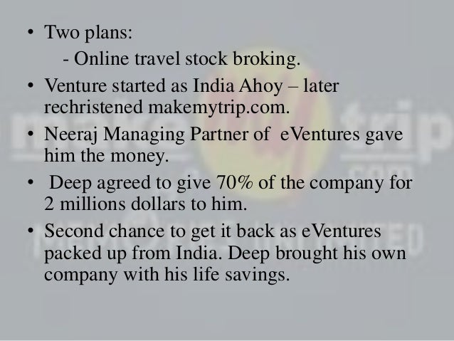 makemytrip marketing strategy Kalra's responsibilities as group chief executive officer include executing our business strategy and managing the sales, marketing, corporate makemytrip.