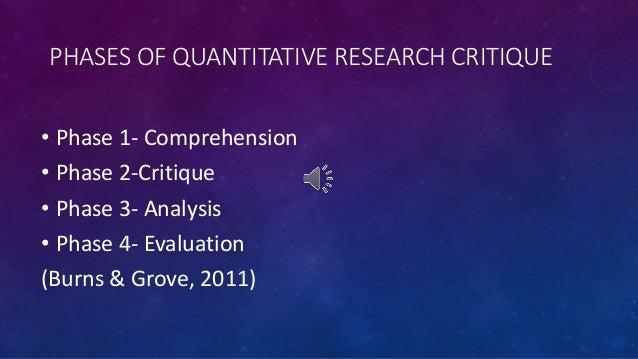 Critical analysis of a quantitative research