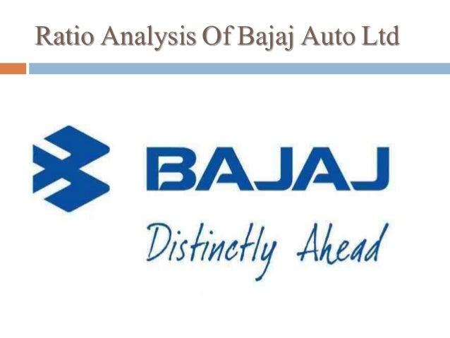 Ratio Analysis On Annual Balance Sheet Of Bajaj Auto Ltd