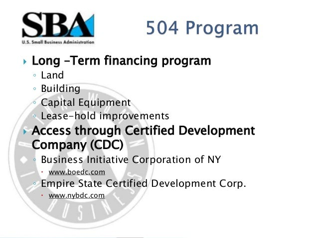 U S Small Business Administration Programs
