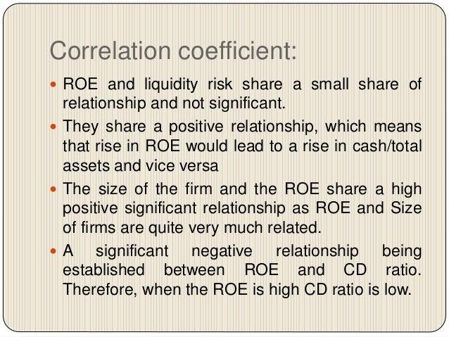 negative roe and roa relationship