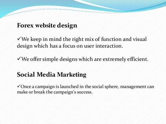 Create a forex company