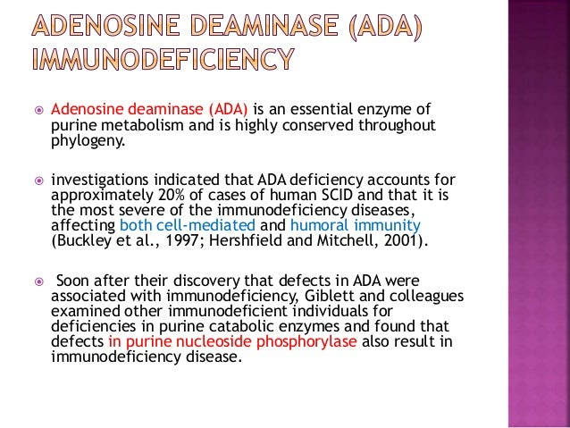 adenosine deaminase ada immunodeficiency