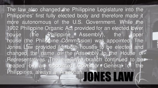 Organic Laws Implemented in The Philippines and Heroes