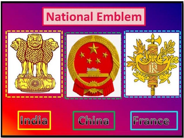 Comparative Study Of National Symbols Of India China France