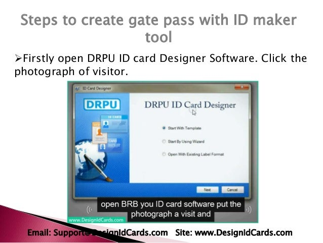 tricks to design gate pass for visitors with id card maker tool