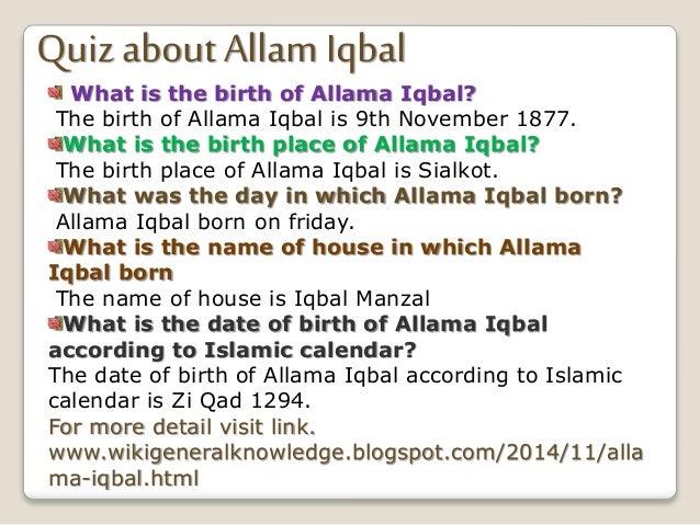 presentation on allama iqbal in english
