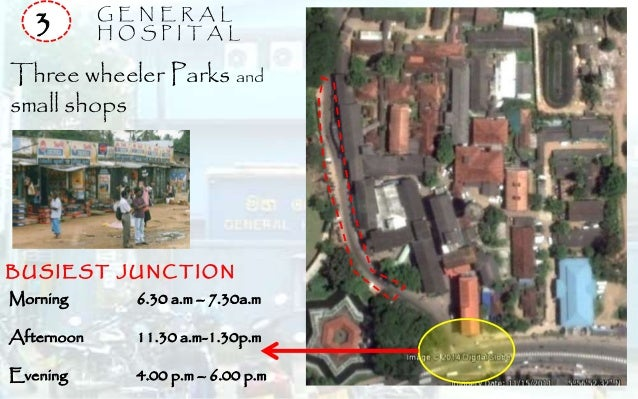 G E N E R A L H O S P I T A L3 Three wheeler Parks and small shops Morning 6.30 a.m – 7.30a.m Afternoon 11.30 a.m-1.30p.m ...