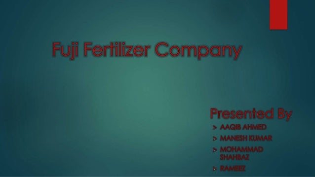  Fauji Fertilizer Company Limited (FFC) is the largest chemical fertilizer producer of Pakistan with biggest market share...