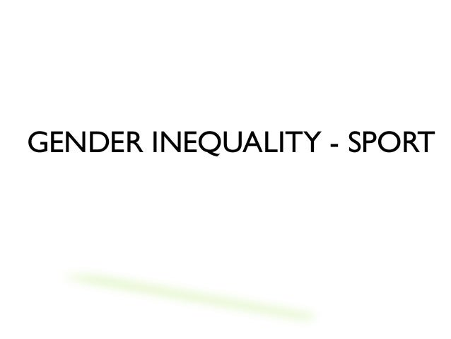 gender equality in sport facts