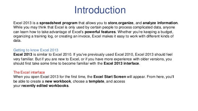 office 2013 excel templates