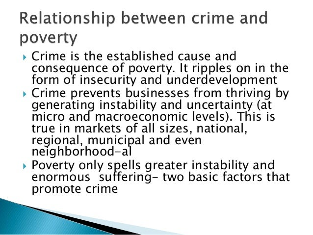 factors that cause poverty and crime