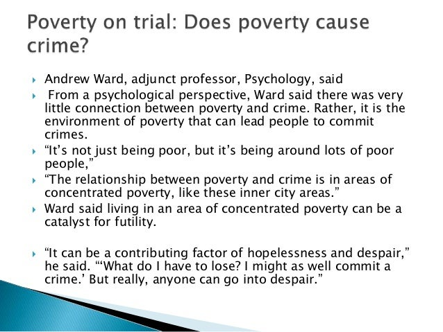26 Poverty and Crime Statistics